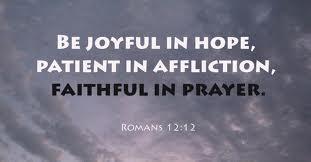 Morning Prayer for afflicted