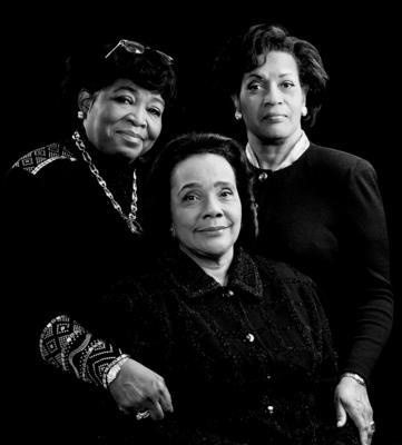 Betty Shabazz Myrlie Evers Coretta Scott King