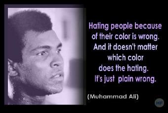 Muhammad Ali on hate