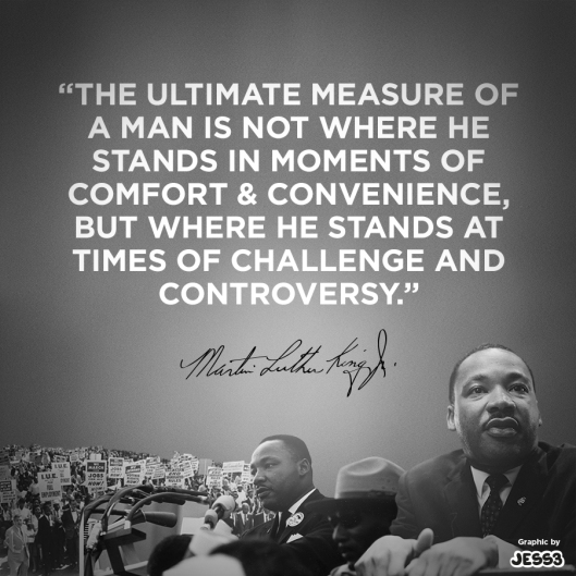 Dr King measure of a man