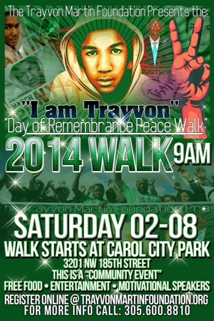 Trayvon Martin Peace Walk 2014 February